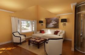 orange wall orange wood floor room that can be decor with white