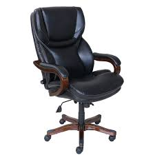 Wooden Executive Office Chairs Serta At Home 46859 Executive Office Chair In Black With Bonded