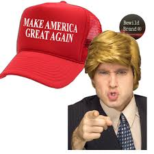 president halloween mask amazon com donald trump costume wig u0026 hat make america great