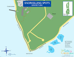 Map Of Coral Reefs Grand Turk Snorkelling Visit Turks And Caicos Islands