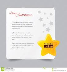 customer service letter thank you for buying stock image image