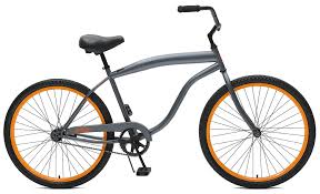 jeep mountain bike critical cycles men u0027s 2357 bike graphite orange 1 speed 26 inch