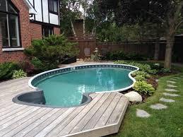 Average Backyard Pool Size 52 Best Semi Inground Pools Images On Pinterest Semi Inground