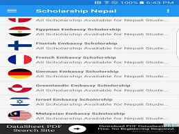 scholarship nepal 1 8 apk download android education apps