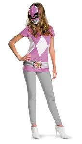 Power Rangers Halloween Costumes Adults Women U0027s Pink Power Ranger Costume Costumes