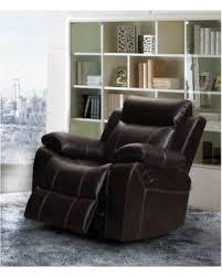 bargains on vivienne dark brown leather air rocking reclining chair