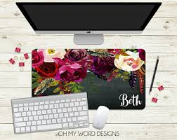 Personalized Desk Accessories Desk Mat Etsy
