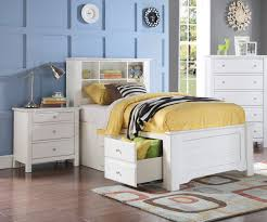 White Bookcase With Drawers by Mallowsea Full Size Bookcase Storage Bed In White Finish 30415f