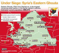 Syria Live Map by Under Siege Syria U0027s Eastern Ghouta