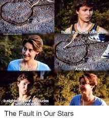 Fault In Our Stars Meme - augustus quotes els eighteen year udes he circle of virgins and this