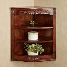Corner Display Cabinet With Glass Doors Curio Cabinet Howard Miller Modern Curve Door Cherry Corner