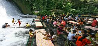 this waterfall is actually a restaurant u0026 it should totally be on
