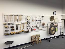 Storage Solution Pegboard As Storage Solution For Auxiliary Percussion Equipment