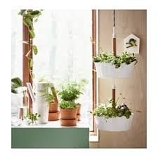 bittergurka hanging planter white ikea