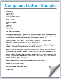 Formal Complaint Letter Format Sle complained letter city espora co