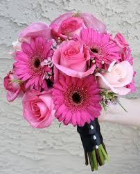 Wedding Flowers Pink Wedding Flowers In Santorini In Ios Greece