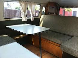Camper Interiors 1966 Devon Spaceway Interior Bed Layout Pics The Split Screen