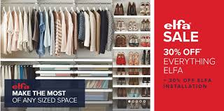 the container store the container store elfa discount promotion receive 30 off 30