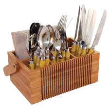 Gg Collection Utensil Holder Flatware Caddy Classic Furniture Diy