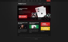online poker responsive website template 37980