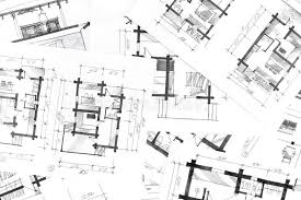 graphical sketches by pen architectural background stock