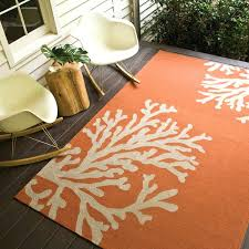 Outdoor Rug 5x7 New 5 7 Indoor Outdoor Rugs Branches Orange Gray Indoor Outdoor