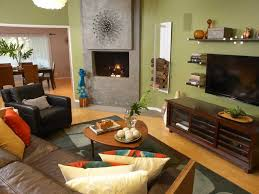 how to arrange furniture in living room with corner fireplace and