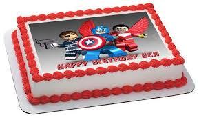 captain america cakes captain america lego edible cake and cupcake topper edible