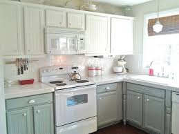 kitchen painted gray with white cabinets remodelaholic painting oak cabinets white and gray