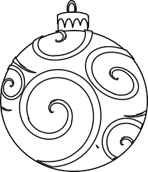 free printable christmas coloring pages for kids inside ornaments