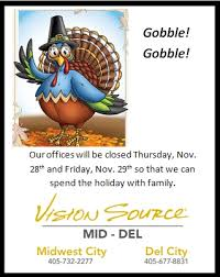 special thanksgiving office hours optometrist eye doctor in