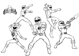 power ranger coloring pages printable funycoloring