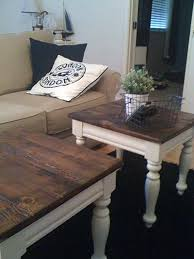 Homemade End Tables by Farmhouse Style Coffee Table Makeover Before And After Coffee