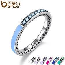 Pandora Wedding Rings by Pandora 925 Sterling Silver Radiant Hearts Air Blue Enamel U0026 Sky