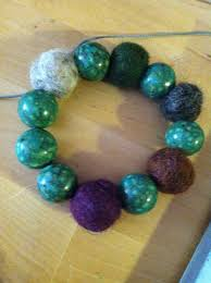 thread bead bracelet images How to make a felted bead bracelet snapguide jpg