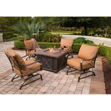 slate fire pit table hanover summer nights 40 square gas fire pit table with durastone