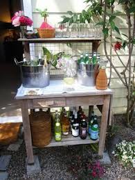 Potting Bench Ikea Potting Table World Market Turned Into A Beverage Bar For The