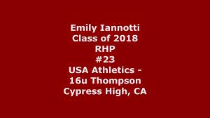 pre thanksgiving softball tournament emily iannotti u0027s softball recruiting profile