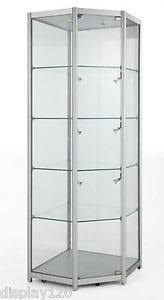 white glass storage cabinet high class aluminum glass corner tower display cabinet shop home