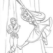 Rapunzel Coloring Pages Hellokids Com Coloring Pages Tangled