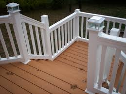 composite decking material inspirations with wood deck railing