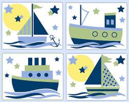 Sailboat Decor For Nursery Sailboat Nursery Etsy