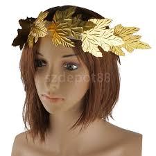 goddess headband gold leaf goddess laurel wreath fancy dress costume