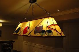 hand crafted custom stained glass pool table lamp by knapp stained