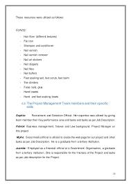 Resume On Word Pmp Final Version
