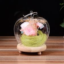 s day table centerpieces apple shape glass doll dome for wedding party s day