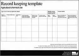 Farm Record Keeping Spreadsheets by Keeping Chemical Use Records Record Keeping Agricultural