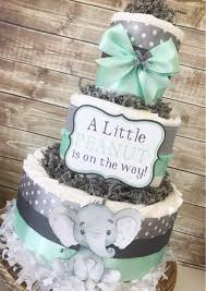 peanut baby shower peanut cake in mint and gray elephant baby shower