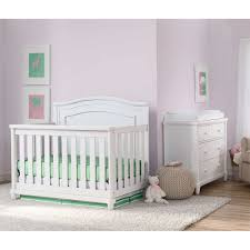 White Convertible Crib Sets by Simmons Kids Sophia 2 Piece Convertible Crib Set White