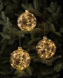 balsam hill set of 3 led light ornaments